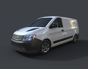 3D asset Generic Minivan White