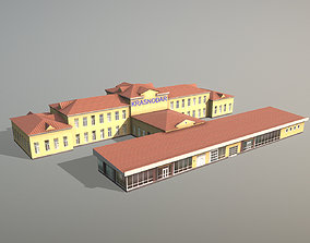 Airport Terminal URKK Terminal International 3D model