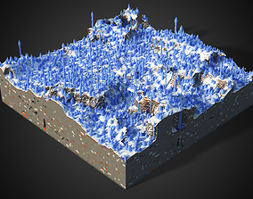 Minecraft Ice Spikes Biome 3D model
