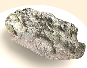 Flat Rock Surface Scanned 3D asset