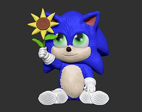 baby sonic SONIC THE MOVIE 3D printable model