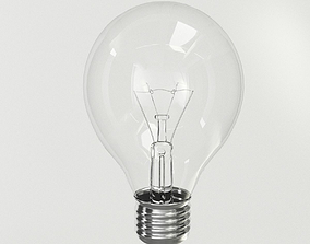3D PBR Incandescent Light Bulb
