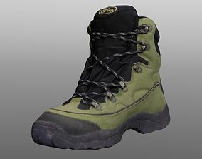 clothes game-ready Boot 3D model low poly