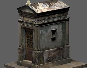 granite Weathered Leaking Mausoleum 3D model