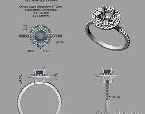 3D printable model 2 Halo Line Ring