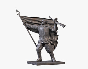 Communist Sculpture 3D model