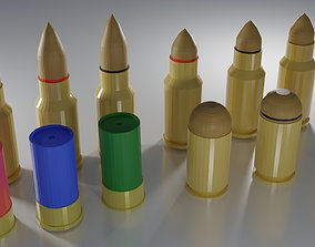 3D model Modular Low Poly Ammo Pack