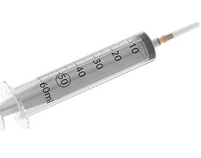 60ml Syringe 3D model