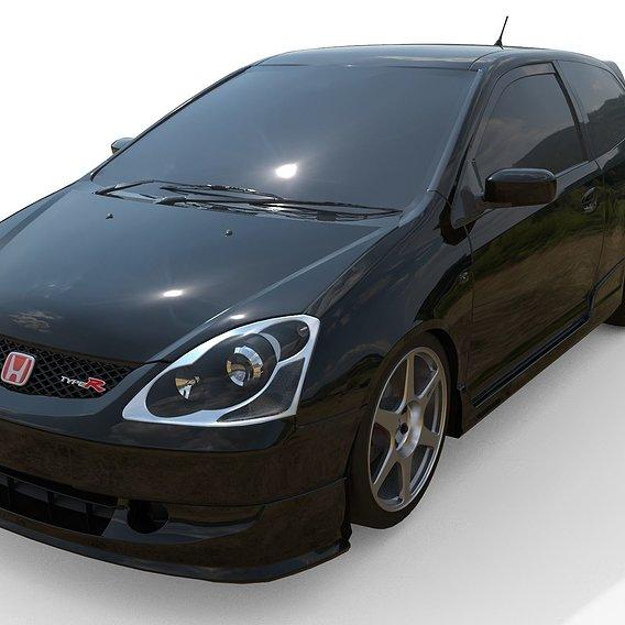 HONDA CIVIC EP3 TYPER w/Enkei Mitsubishi Evo8 Wheels - Emir Çaklı