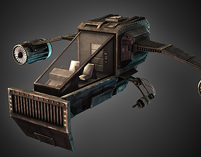 High Detail Space Fighter Concept 3D model