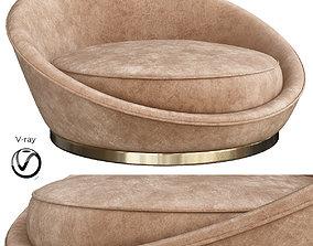3D asset Milo Baughman Satellite Chaise