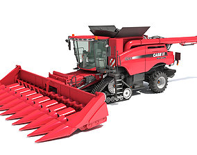Case Corn Combine Harvester 3D