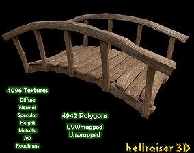 Wooden Bridge - Textured 3D model