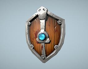 Shield handpaint 3D asset