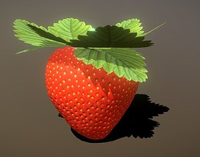Strawberry 3D asset game-ready
