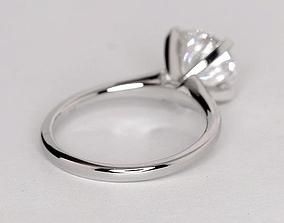 Round brilliant cut diamond ring 3D printable model
