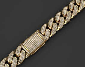 13 MM MIAMI CUBAN LINK CHAIN FOR BRACELET 3D print model 1