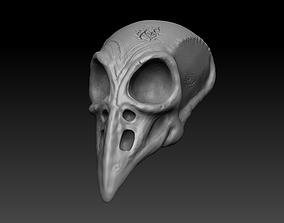crow skull halloween mask 3D print model other