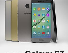 3D Samsung Galaxy S7 all colors