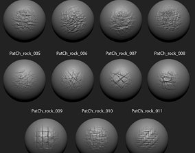 Zbrush Alpha Pack Rock Set3 for Free 3D