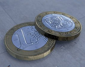 3D 1 Euro Coin - Greek