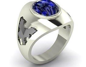 3D print model Eagle Man Silver Ring
