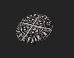 3D asset Coin Edward I Penny