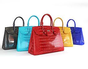 luxury Hermes Birkin female handbags 3D model