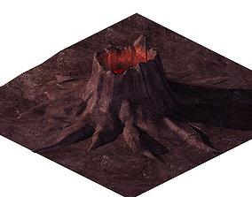 Game model - volcanic tree-like magma mouth stone