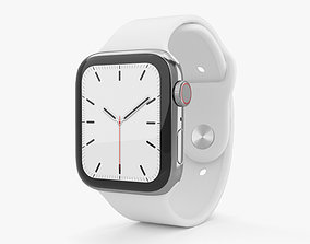 3D model Apple Watch Series 5 44mm Stainless Steel Case 2