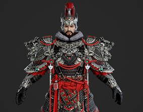 3D model Ancient Chinese armor swordman Ancient Chinese 2