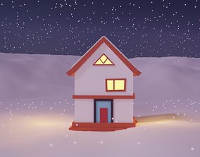 Winter Season Christmas House 5 3D model