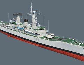 3D Leander class frigate
