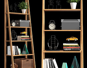 3D model Shelf with decor