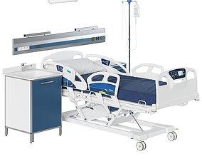 3D model Hospital Room Equipment