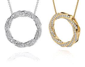 Jewelry Spiralle Pendant with stones 3D printable model