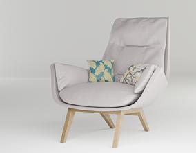 3D model Garbo I Webstoff Lounge Chair