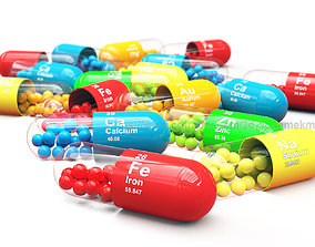 Pills - Capsules 3D model