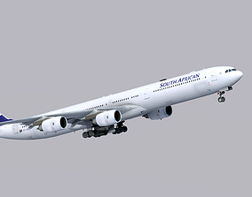 Airbus A340-600 South African Airways 3D asset