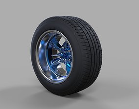 Wide car wheel 2 3D model