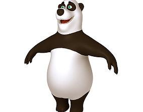 Panda Cartoon 02 3D model