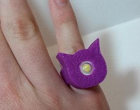 3D printable model Light-up Cat Ring