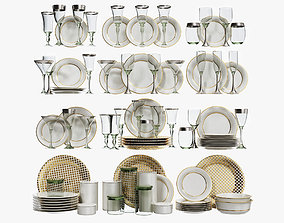 Classical glasses and plates 3D