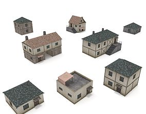 3D asset Medieval Houses - Low Poly Pack