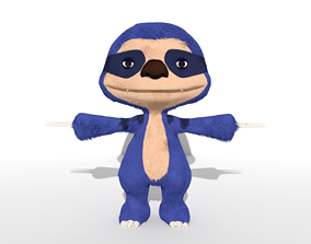 3D model Blue Sloth