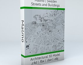3D Malmo Streets and Buildings
