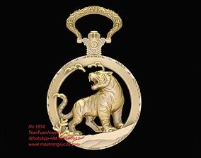 1854 Gold Tiger Pendant 3D print model