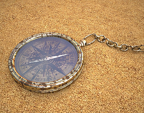 Compass in sand 3D model