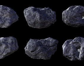 3D asset Asteroid pack 2