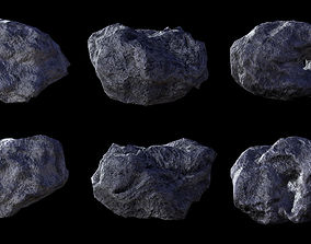 3D asset Asteroid pack 2